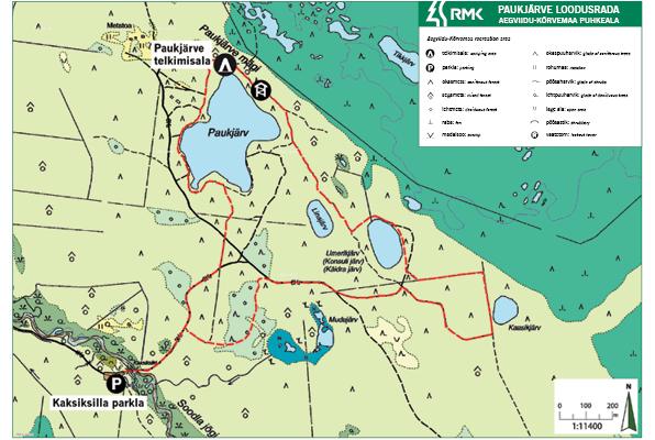 Lake Paukjärv nature trail