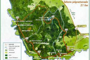 Radweg in Taheva