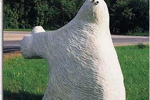 Kaļķakmens skulptūras Paides pilsētā