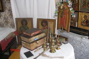 Молельный дом староверов в деревне Рая