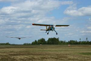Любительские полеты на планере и моторном самолете в аэроклубе Ридали