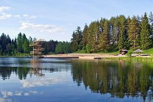 Vanameizas ezera pludmale