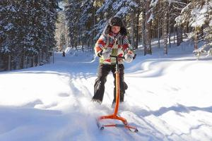 Kicksledge trips on the paths of