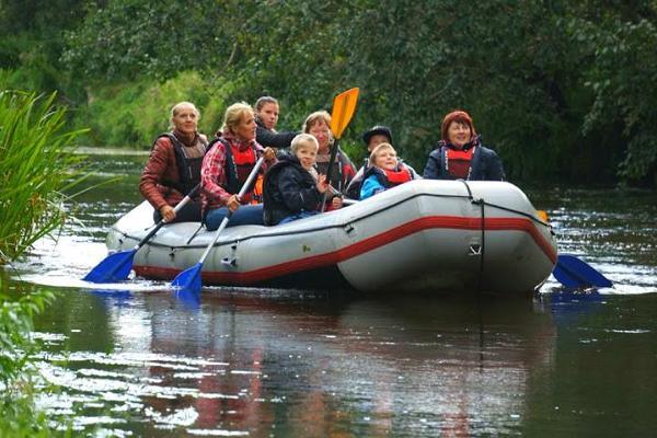 A summer rafting trip on the Võhandu River