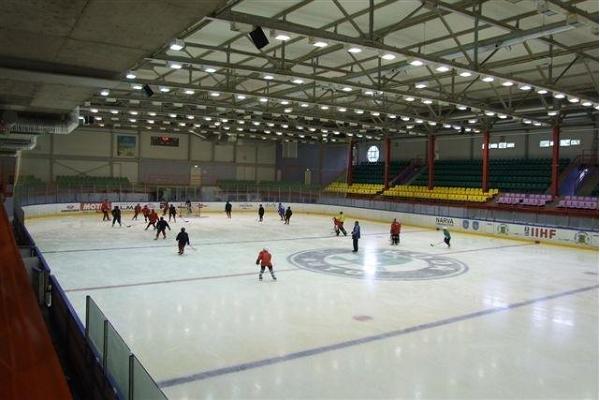 Skating at Narva Ice Rink