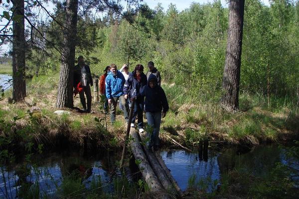 Bog shoe hikes in Meelva bog