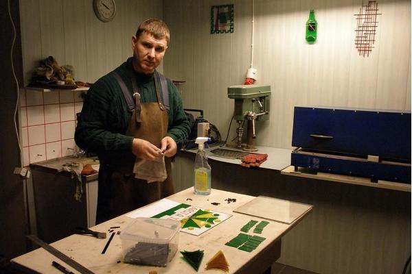 "Stikla priekšmetu izgatavošana studijā ""Jerjomin Glass Studio"""