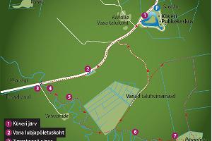Hiking trail at Kõveri Holiday Centre
