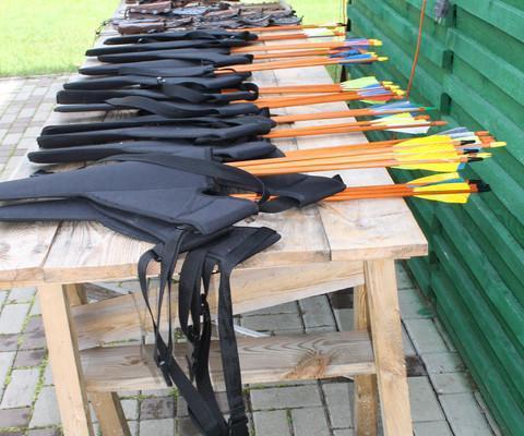 Bogenschießen im Erholungszentrum Kõveri