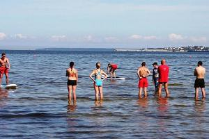Stand up paddle surfing at various beaches in Tallinn