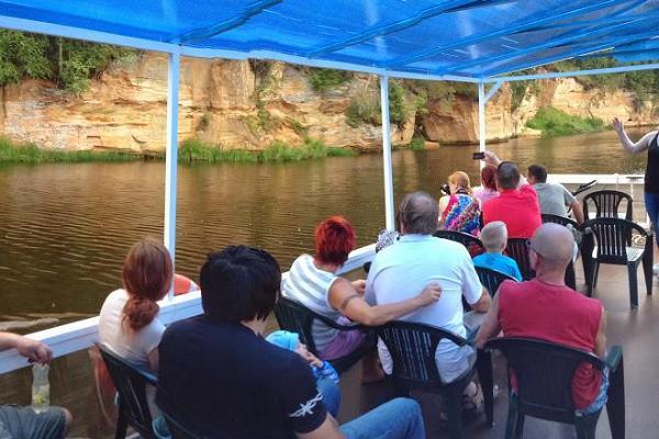 """Ausflug in Taevaskoda mit dem Fluss-Schiff """"Lonny"""""""