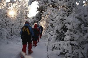 Schneeschuhwanderung in Kõrvemaa