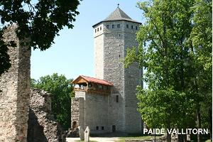 Paide Vallitorn and Ruins of the Order Castle at Vallimägi