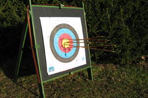 Adventure on the archery track in Rüütli Farm