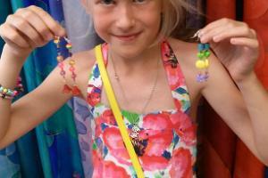 Making bead jewellery in the ENE