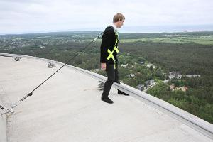 A walk on the edge of the roof of the Tallinn TV Tower, 175 m from the ground!