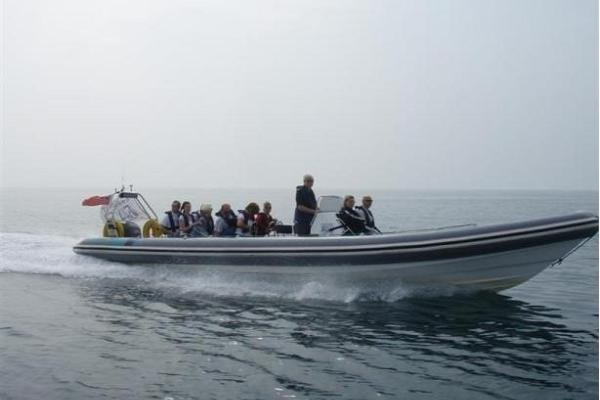 To the island of Aegna by a speedboat for a day or two