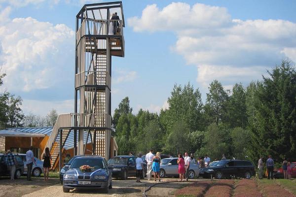 Teehaus-Aussichtsturm des Energie-Hofes