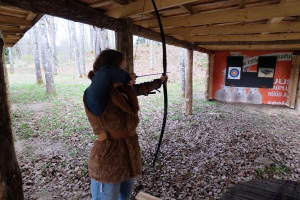 Schießstand in Padise: Bogen, Armbrust, Luftgewehr