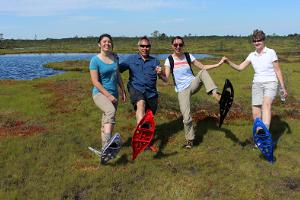 Soomaa.com guided bog shoe hike in Soomaa National Park