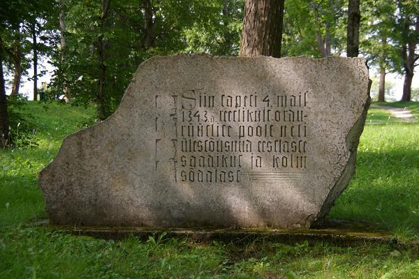 Denkstein den vier Königen auf dem Berg Vallimägi (Wallberg) in Paide