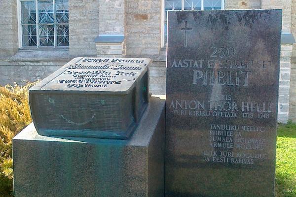 Minnesmärke över Bibeln på estniska