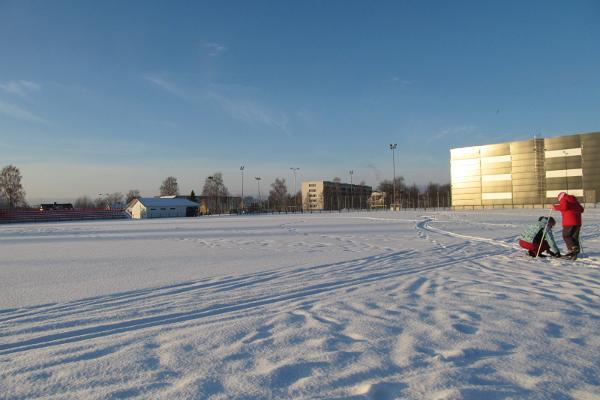 Schlittschuhbahn im Stadion von Haapsalu