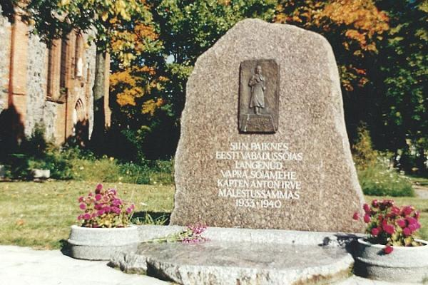 Kapten Anton Irve mälestusmärk