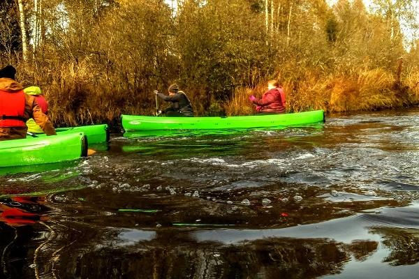 Canoe trip on the River Keila