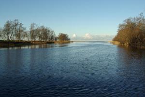 River Jägala and suspension bridge