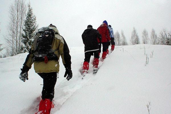 Schneeschuh-wanderung im Sirtsi-Sumpf in Alutaguse