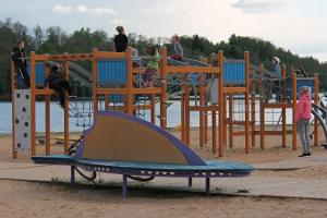Leikkikenttä Viljandin järven rannalla