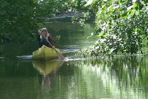 Tammekännu kanuuretked Ahja jõel