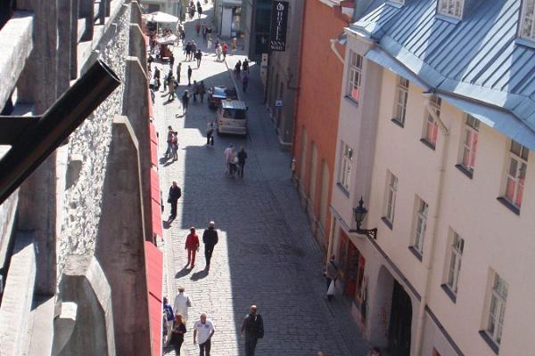 Die Müürivahe-Straße in Tallinner Altstadt