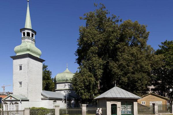 Gudsmoders Födelsekyrka i Tallinn (Kaasani heliga staty)