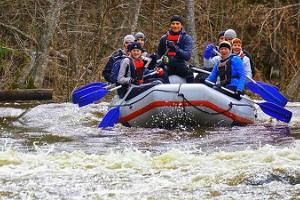 Spring rafting on the Rivers of Võhandu and Piusa