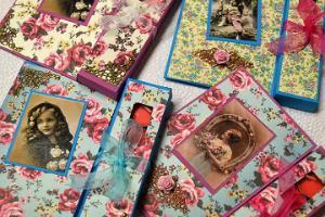 Hand-made postcard workshop at Bonifatius Guild