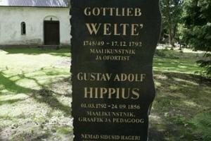 Baltvācu gleznotāji Gottlieb Welté un Gustav Adolf Hippiusa piemineklis Hageri kapsētā
