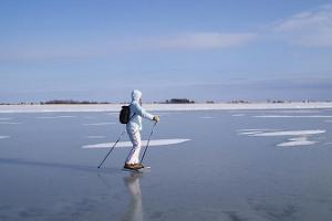 Skating trip on Haapsalu Bay