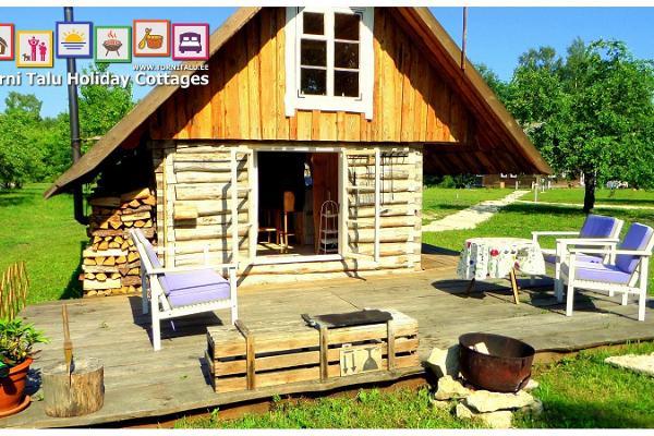 Ferienhäuser von Torni, Speicherhaus mit Bad und Kamin