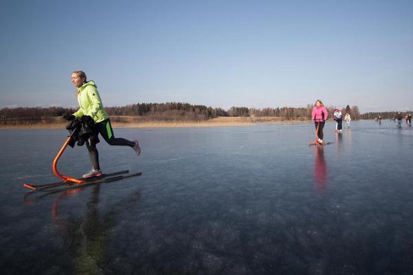 Pārgājiens ar stumjamām ragavām uz Pihajerves ledus vai pa pārgājienu takām