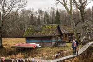 Баня по-черному на хуторе Карускозе в Соомаа