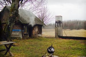 Karuskose smoke sauna in Soomaa