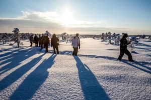 Pārgājiens ar sniega kurpēm Ziemeļu Kervemā