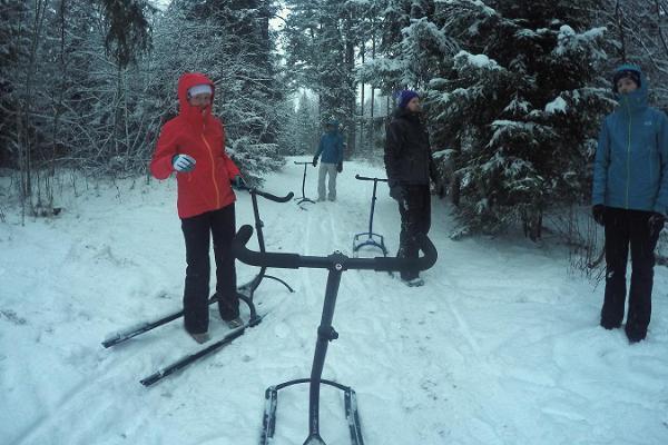 Sparkstöttningsturer i Kõrvemaa av Sportlands Kõrvemaa vandrings- och skidcentrum