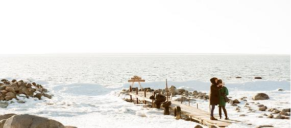 The Baltic Sea coasts of North Estonia freeze in the winter.