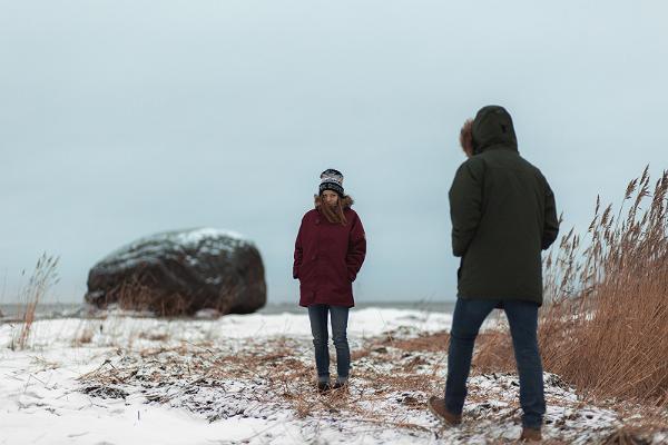 Estonians in winter