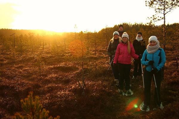 Bogshoe hikes in Meenikunno bog in Southern Estonia
