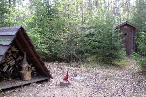Лабидакиви и место для разведения костра