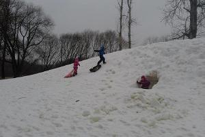 Tehtveres (Tähtvere) atpūtas parka ragaviņu kalns